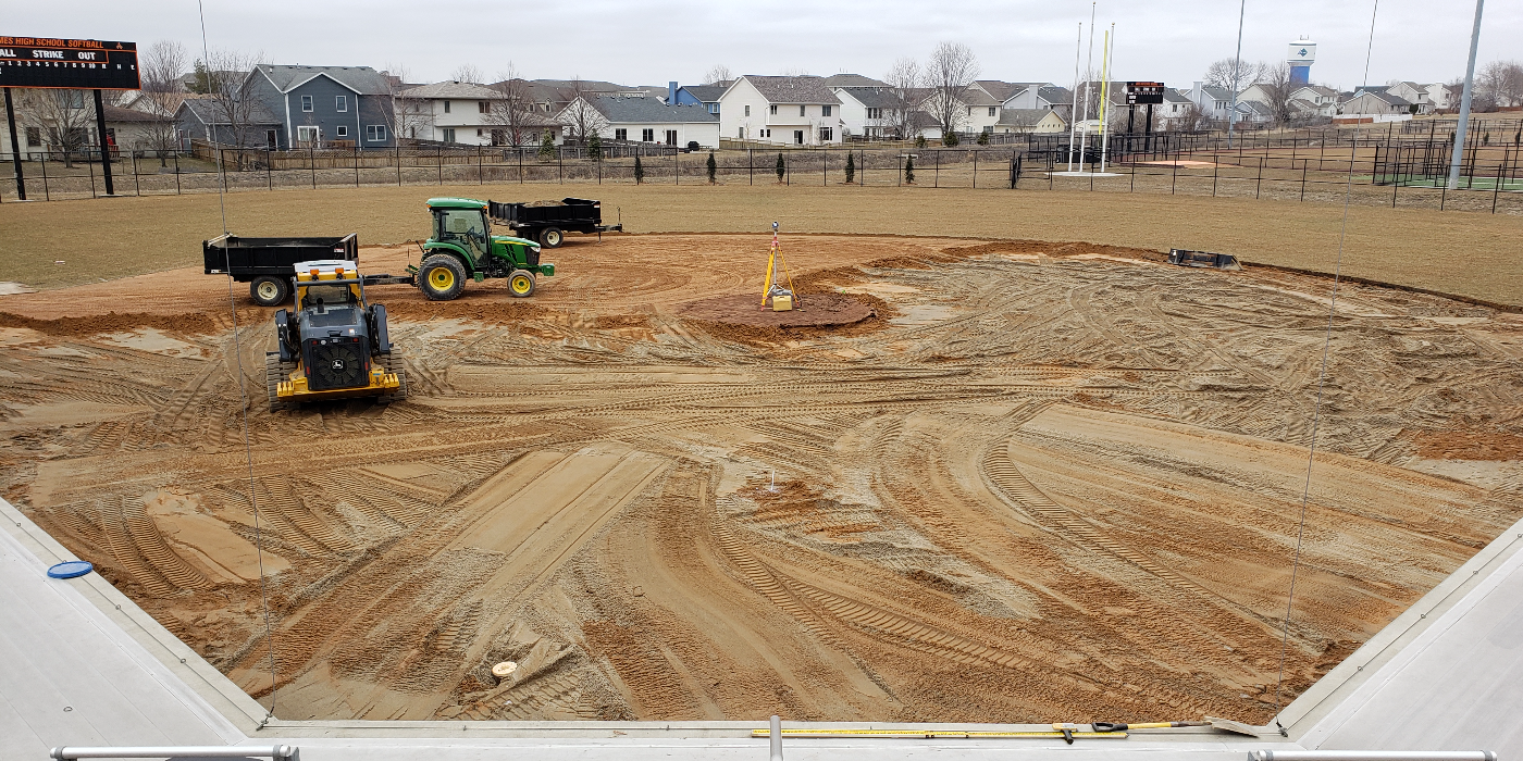 Ames High School Softball Infield Replacement